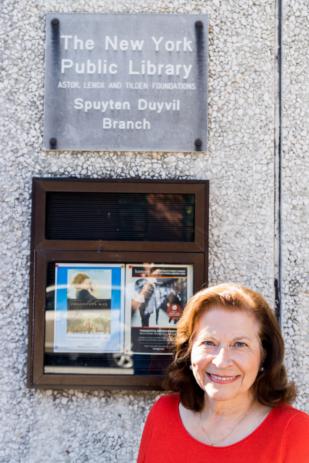 Faye Landsman would like the Spuyten Duyvil library to have more space for older teenagers. Her participatory budgeting suggestion includes funding for renovations to the building to create more space for programming.