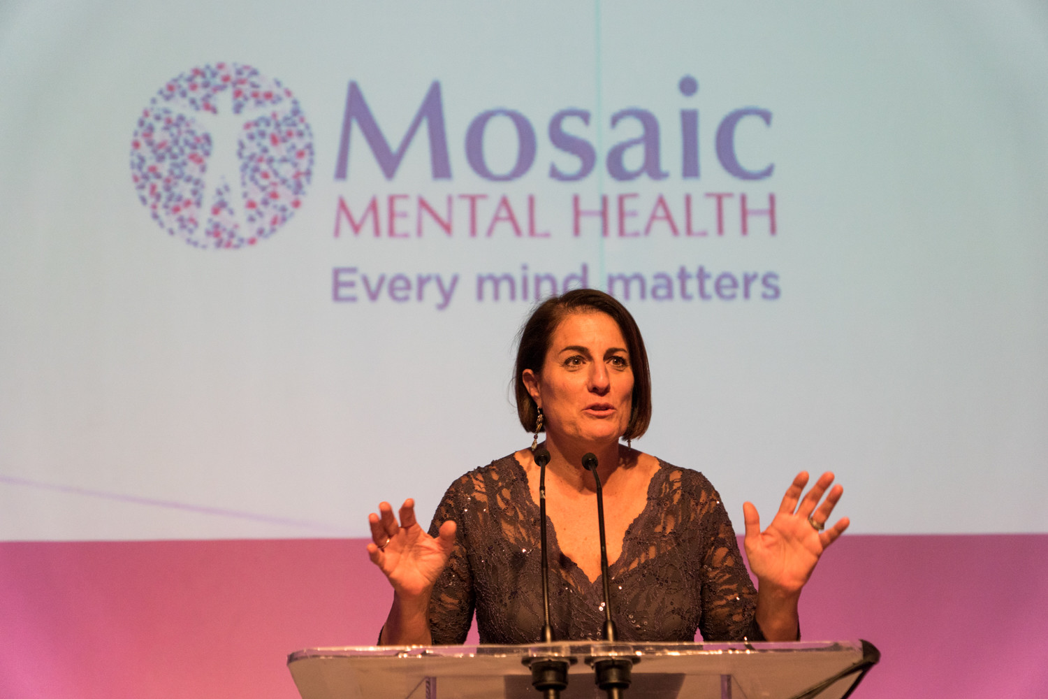 The gala held by Mosaic Mental Health, formerly known as Riverdale Mental Health Association, is part of its rebranding effort, according to Donna Demetri Friedman, Mosaic's executive director. The organization serves 1,000 patients annually.