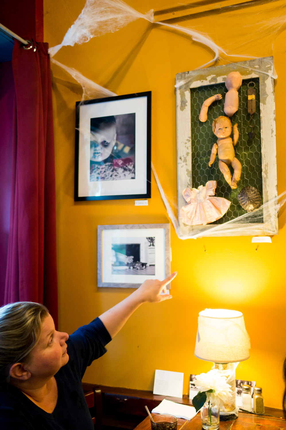 "Kristina Thorstenson discusses her long-term work, ""The Creepy Baby Project,"" which is on view at An Beal Bocht Cafe."