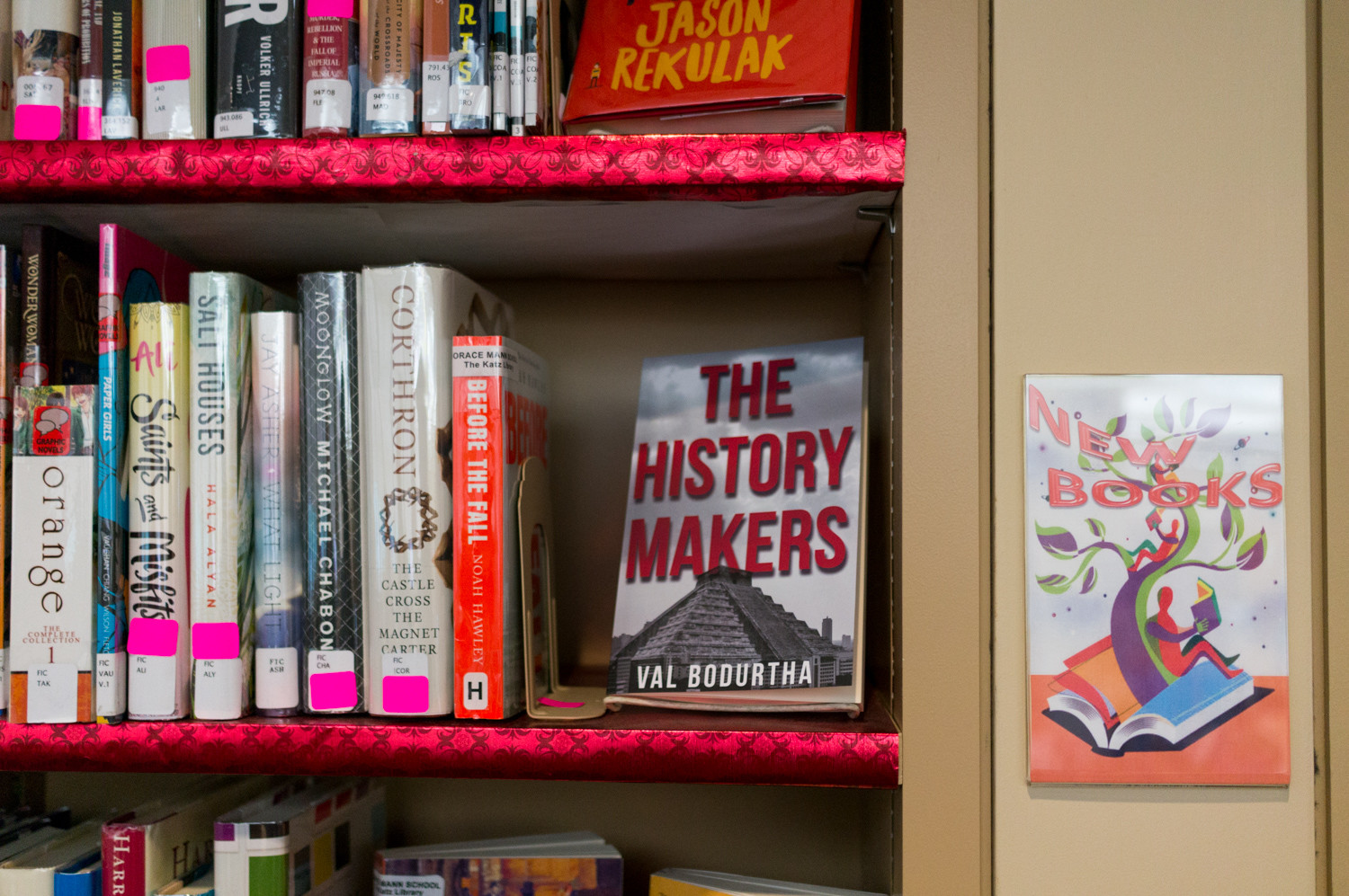While Val Bodurtha's 'The History Makers' has yet to officially join the catalogue in Horace Mann's library, it will find a home on the new books shelf and later in the sci-fi and fantasy section.