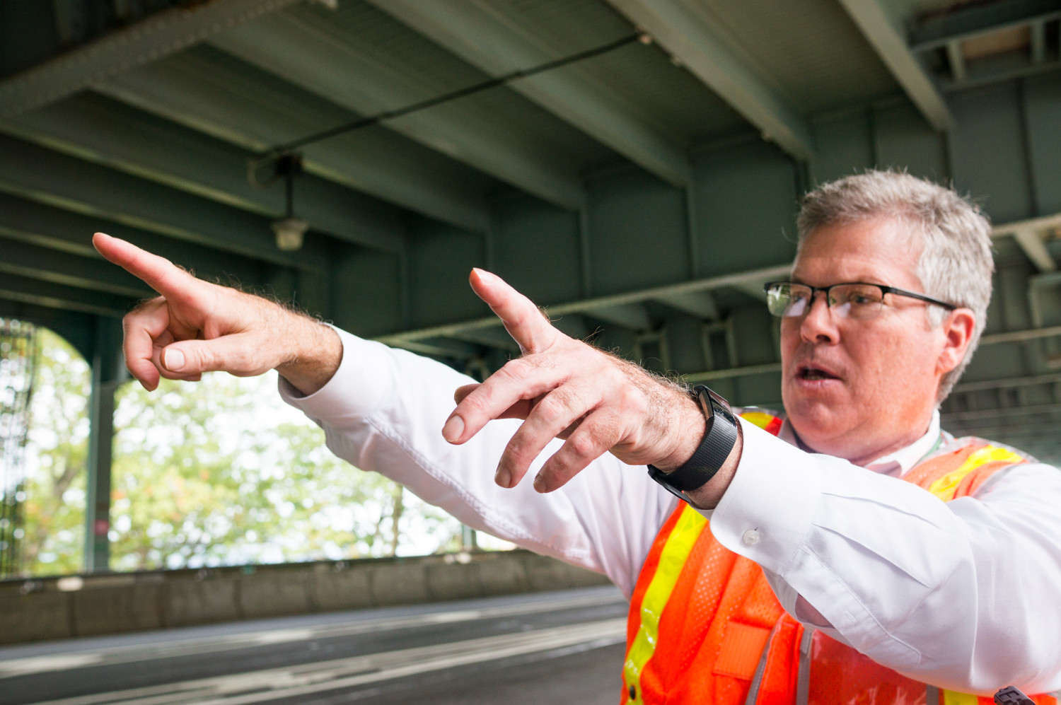 'It has a special place in my heart,' says Walter Hickey, deputy chief engineer for the Robert F. Kennedy and Henry Hudson bridges. 'It was my first assignment.' He bagan working at the Metropolitan Transportation Authority 20 years ago when the MTA initially began planning improvement to the bridge.