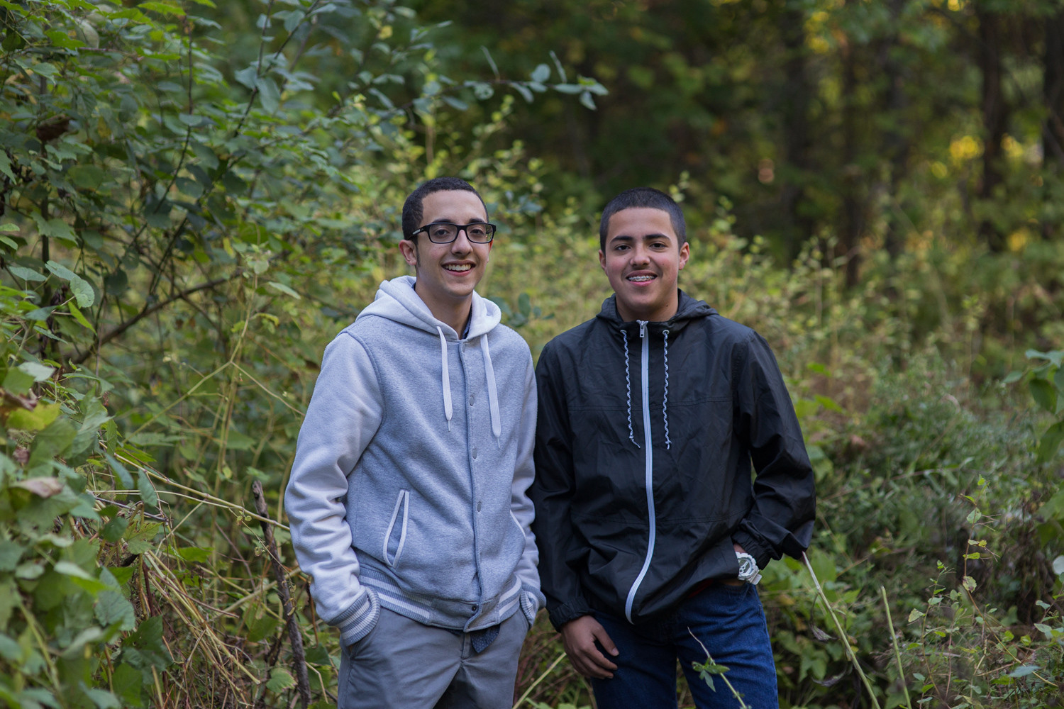 Brothers Enzo and Omar Ramirez from Kingsbridge were honored for their work as interns with Van Cortlandt Park.