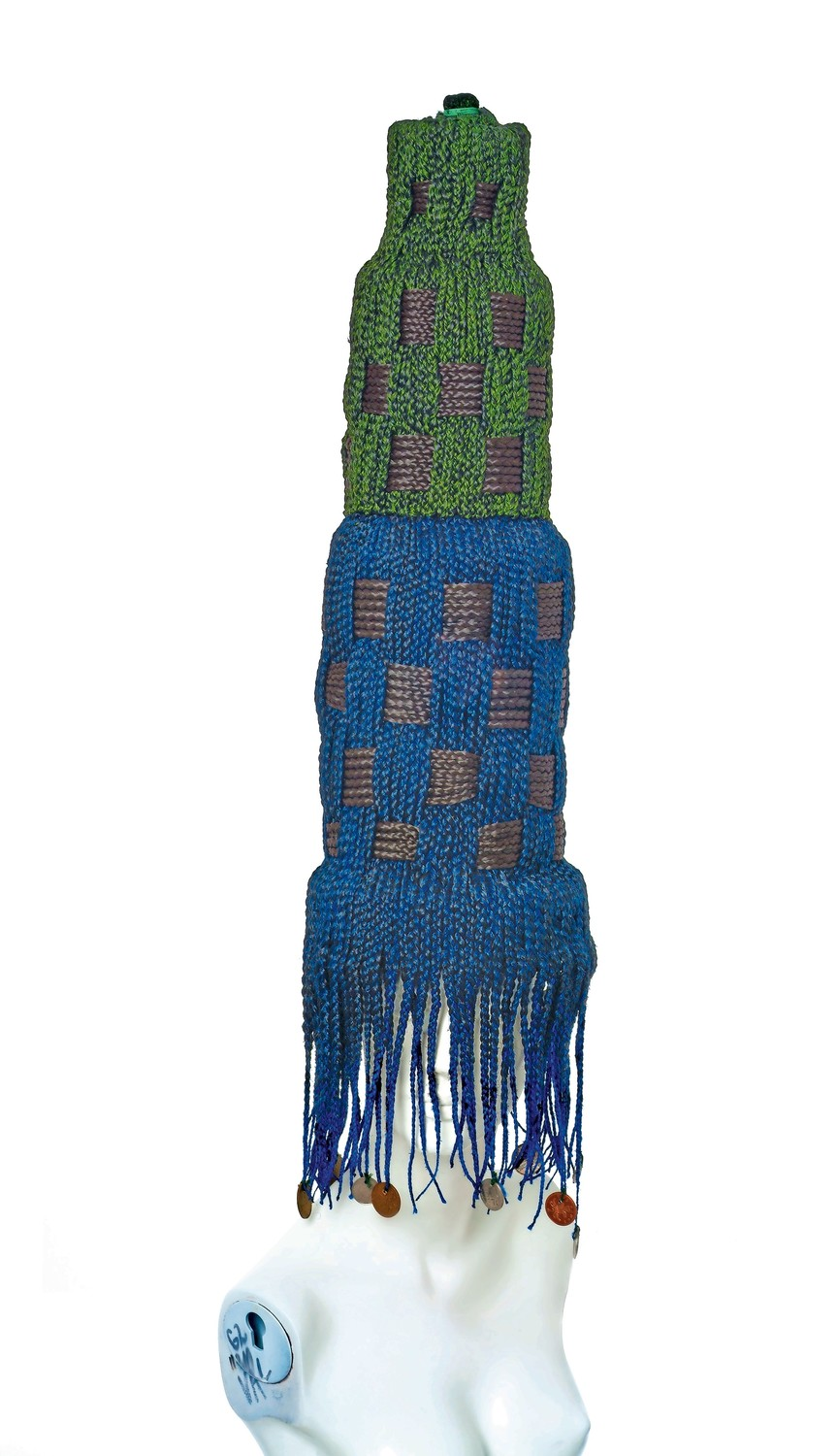 Meschac Gaba's 2004 mixed-media work 'Lipstick Building' is part of the exhibition 'Their Own Harlems' at The Studio Museum in Harlem. One of the elements of this piece includes braided artificial hair.