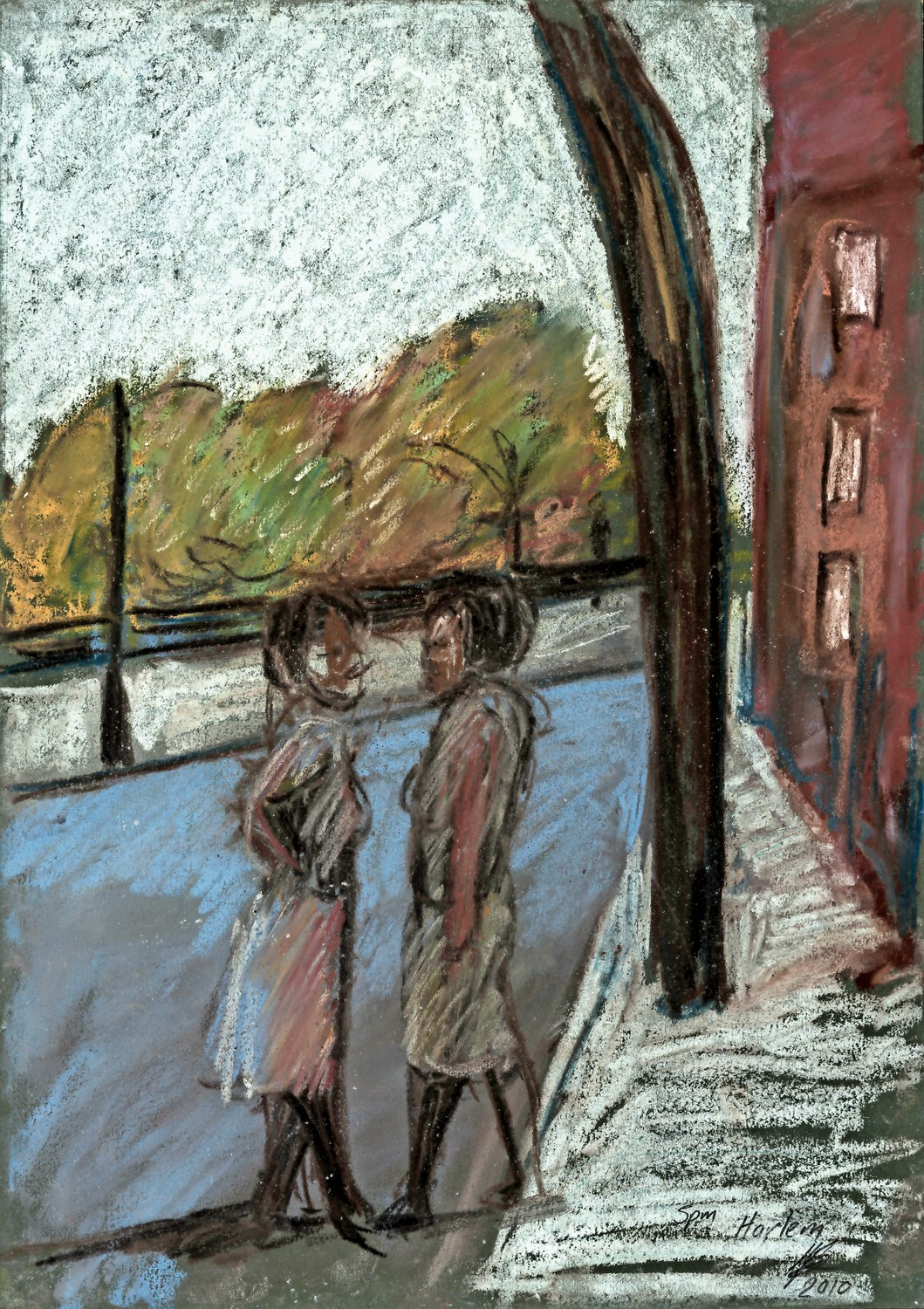 The urban landscape served the as inspiration for Lynette Yiadom-Boakye's 2010 pastel '5 PM Harlem.' It is one of the more than 30 pieces on display at The Studio Museum in Harlem's 'Their Own Harlems' exhibition, which illustrates how an urban landscape served as an artistic inspiration.