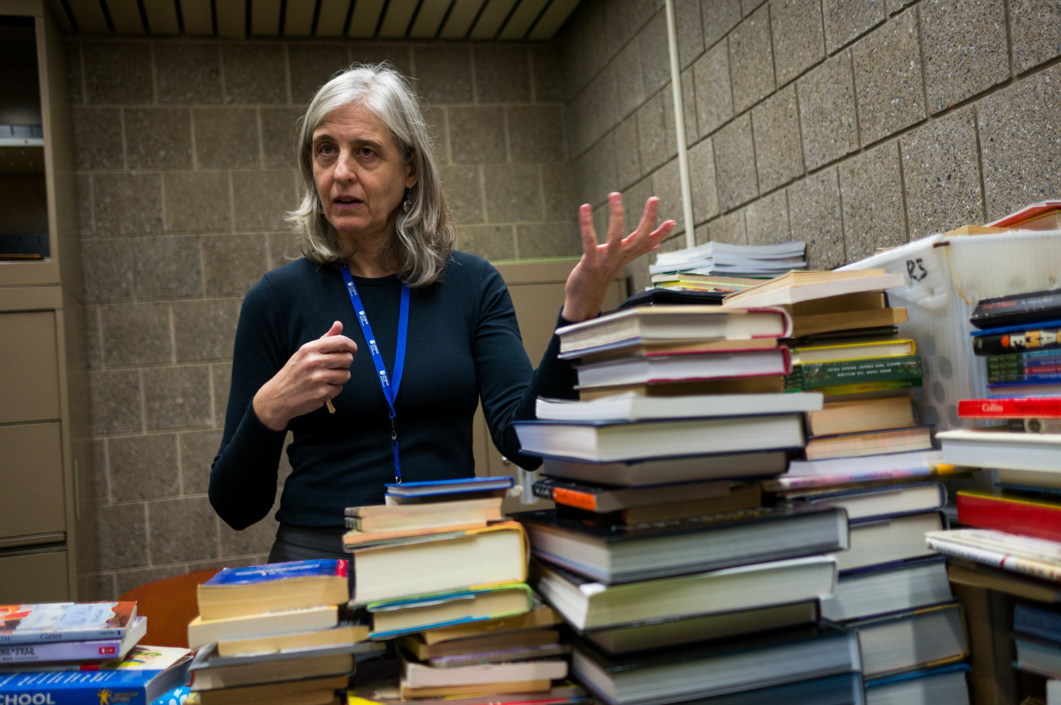 Martha Lerski, a librarian at Lehman College's business library, organized a book drive to assist schools in Barbuda impacted by Hurricane Irma in September.