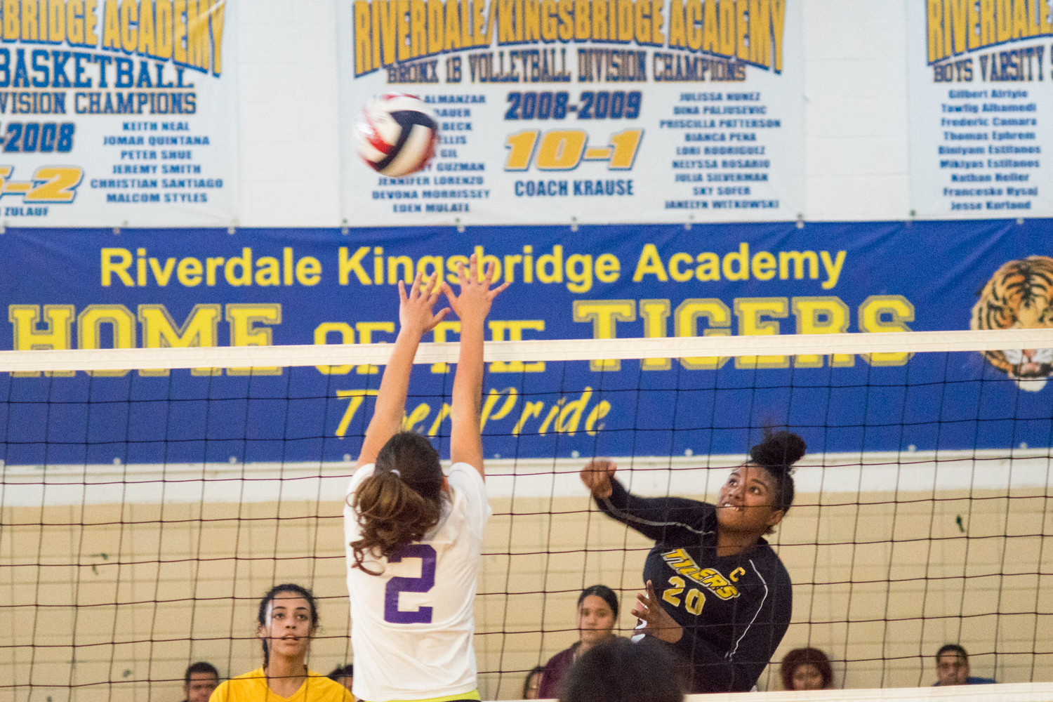 Ambar Cedeno unleashes one of her four kills in RKA's victory over Taft. The Lady Tigers junior also logged three aces and five digs in the win.