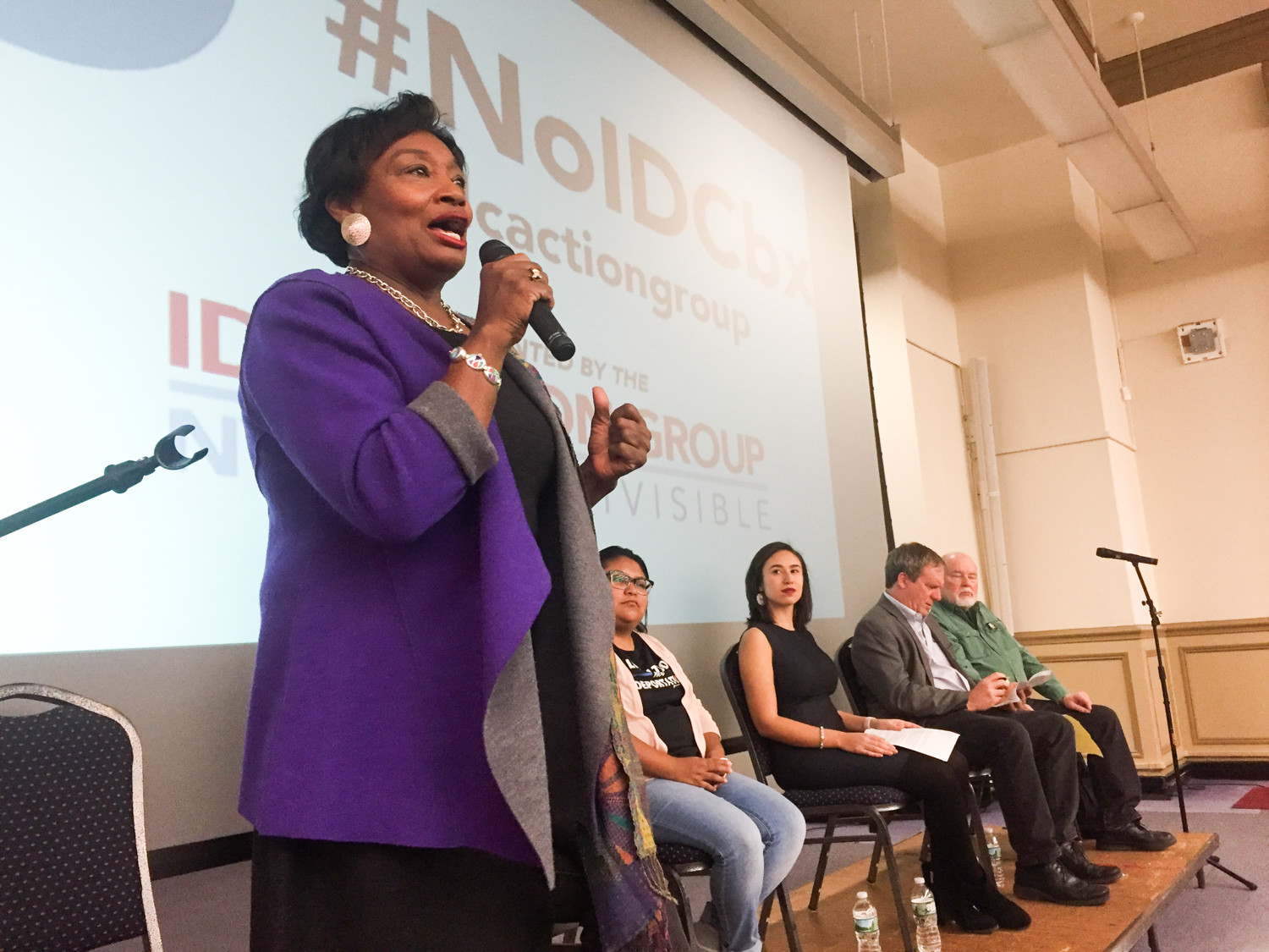 State Sen. Andrea Stewart-Cousins rallied a weekend forum at Lehman College in an effort to topple the Independent Democratic Conference — a group of senators who broke away from the Democratic Party and instead caucus with Republicans, making Stewart-Cousins a minority leader in the senate.