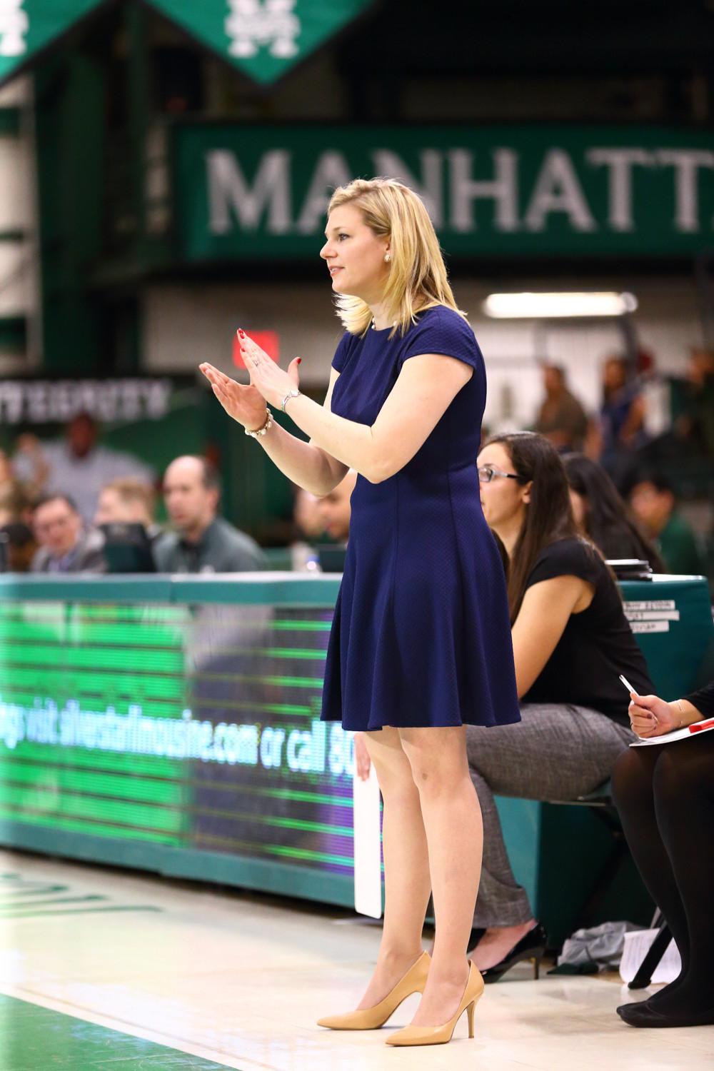 Manhattan head coach Heather Vulin looks for a big turnaround in her second season at the Jaspers' helm.
