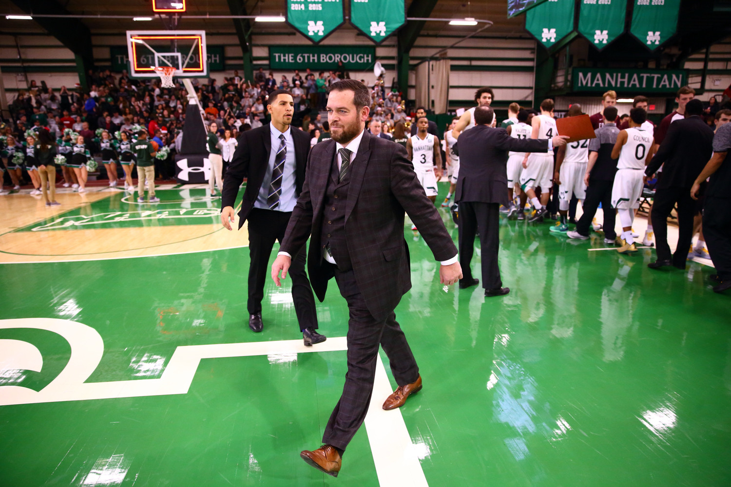 Manhattan head coach Steve Masiello likes the makeup of his team this season as the Jaspers pursue a third MAAC title in the last five years.