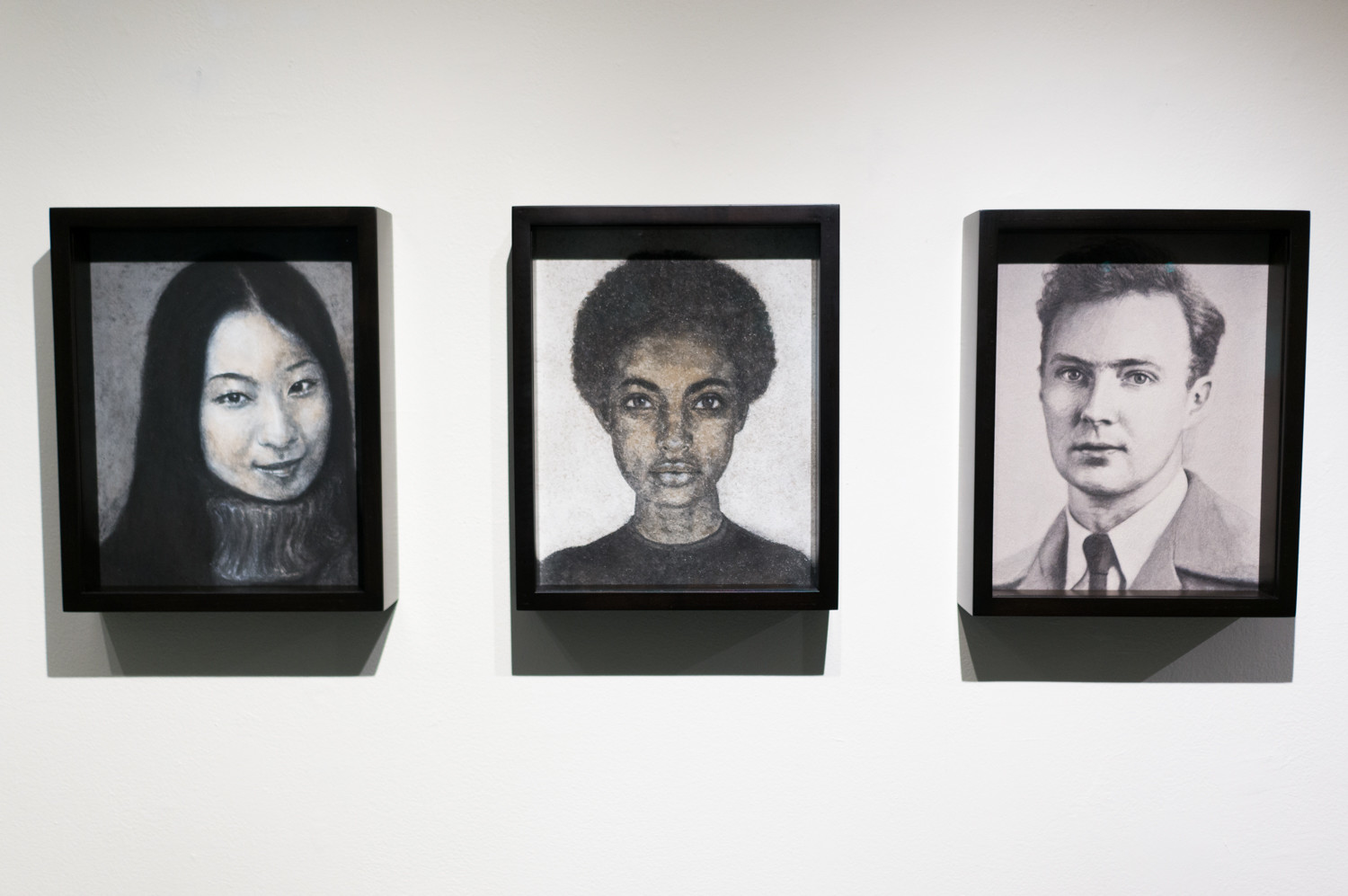 Heide Hatry's portraits of the deceased in their ashes draw the most attention at the exhibition 'It Was a Dark and Stormy Night' at Lehman College. The exhibit focuses on contemporary takes on gothic architecture and literature.