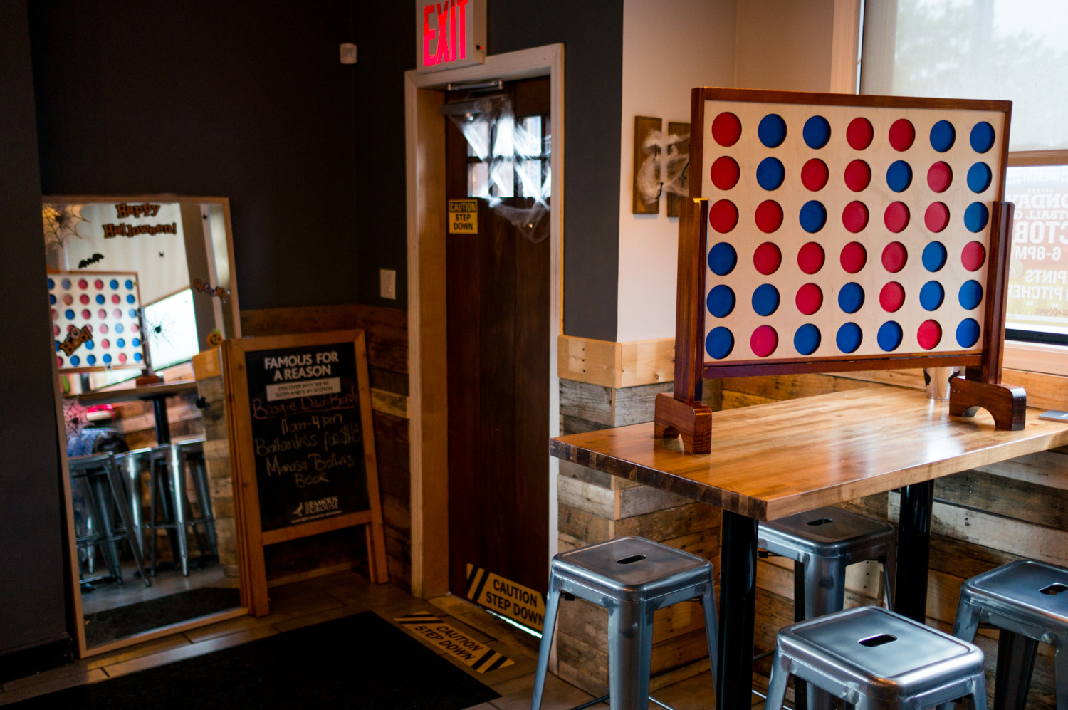 The Bronx Public has a big version of Connect Four for customers to play, something that can engage college-aged patrons and millennials.
