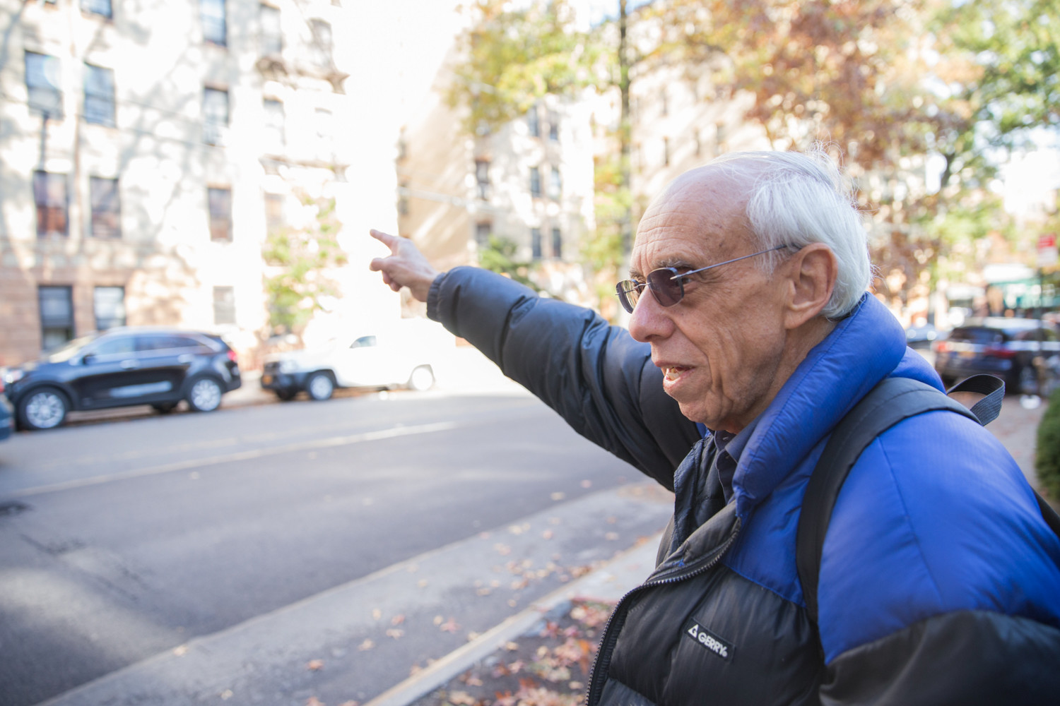 Nat Solomon, who along with other Van Cortlandt Village members are pushing for safety improvements at Stevenson Place and Sedgwick Avenue, recently organized a meeting where he invited Bronx transportation commissioner Nivardo Lopez to see the problem area first-hand.