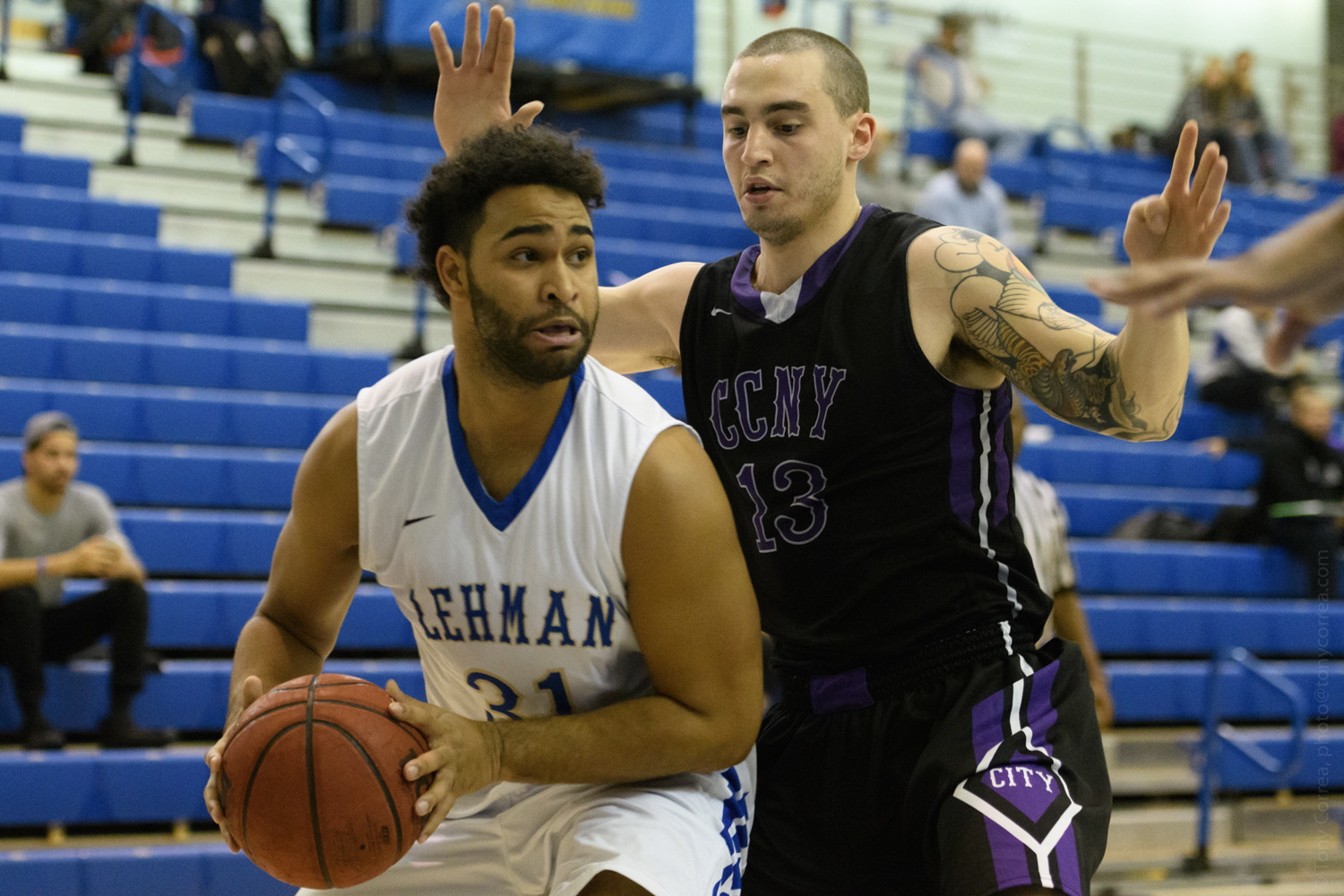 Lehman senior guard Andrew Utate (31) will look to lead the Lightning to its first CUNYAC title in over a decade.