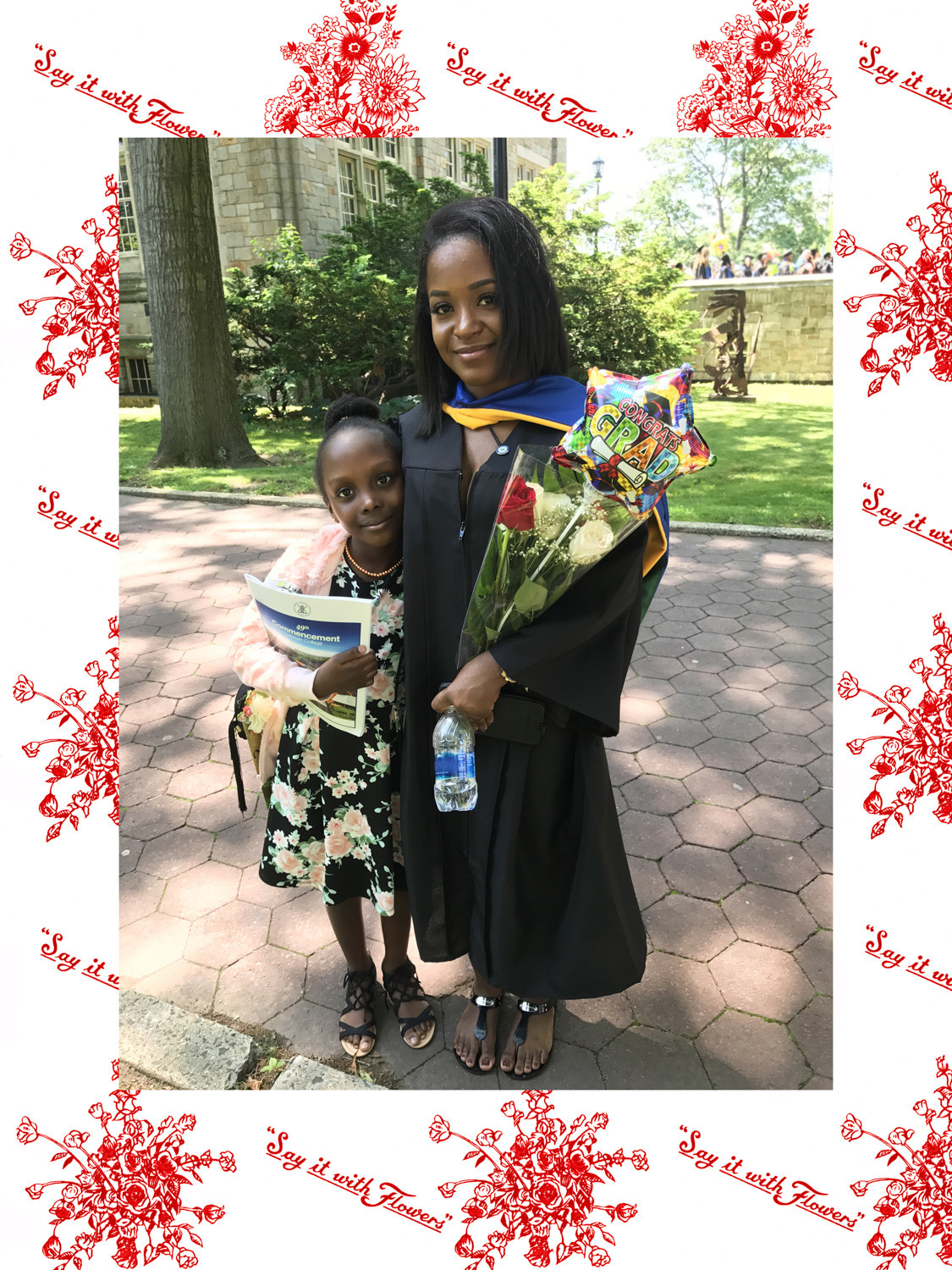 Artist Linda Stillman went as far as sitting through a Lehman College graduation on a sunny day in May to capture graduates with flower bouquets in hand. Stillman captured them and others who purchased flowers for various reasons in her exhibit 'Say it With Flowers' at the Montefiore Medical Center's ArtViews Gallery at 110 E. 210th St.