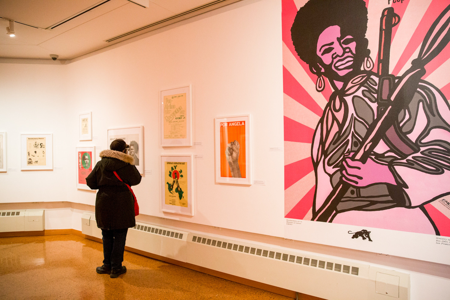 The posters in the 'Power in Print' exhibition at the Schomburg Center have a mix of design styles and aesthetics. Some were made with great attention to typefaces and layout, while others were created to share news of art and culture gatherings or notices of political rallies.