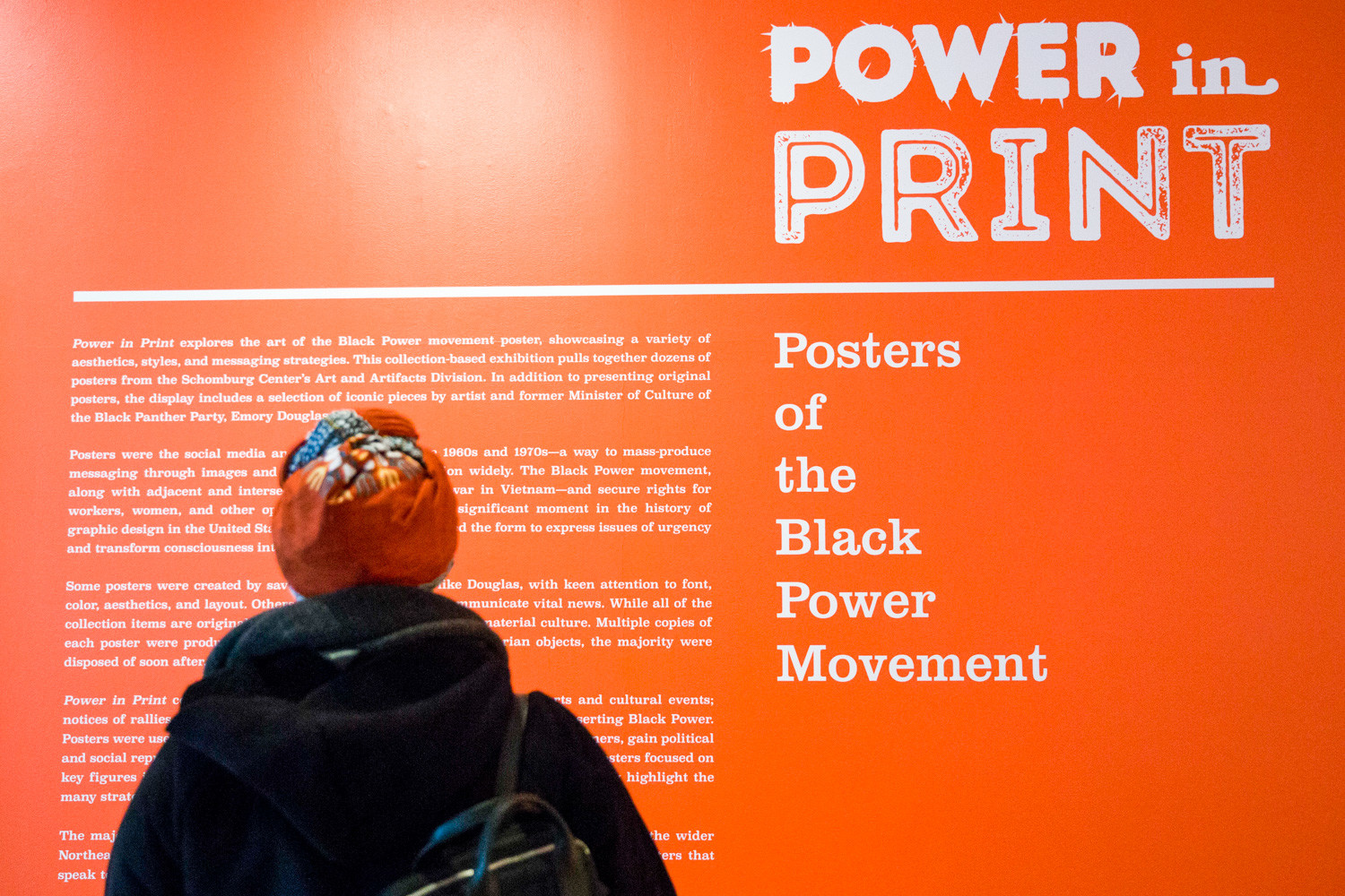With nearly 60 pieces, 'Power in Print' at Schomburg Center for Research in Black Culture in Harlem, shows the posters of the black power movement. It was a dramatic change in how people organized politically and how they represented themselves, says Mark Naison, a history and African-American studies professor at Fordham University.
