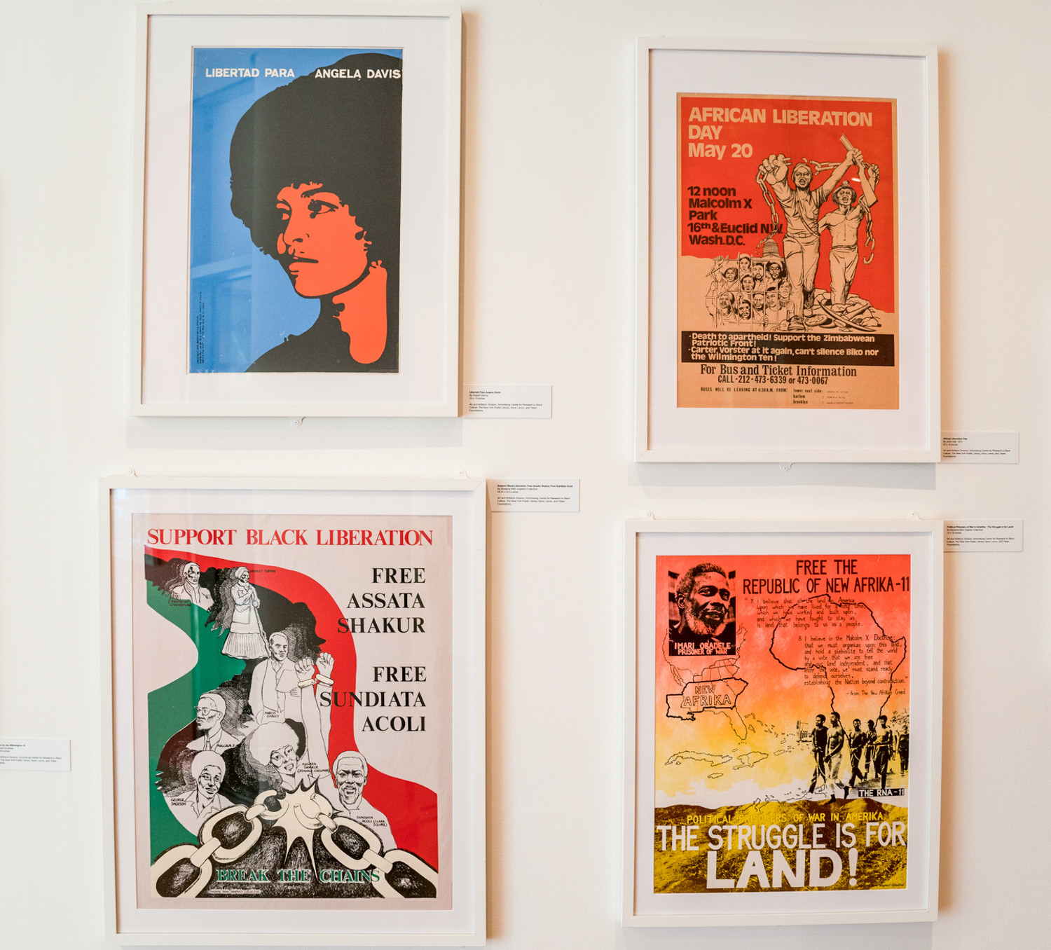 'Power in Print,' an exhibition at the Schomburg Center for Research in Black Culture in Harlem, shows the posters of the black power movement. It runs through March 31.