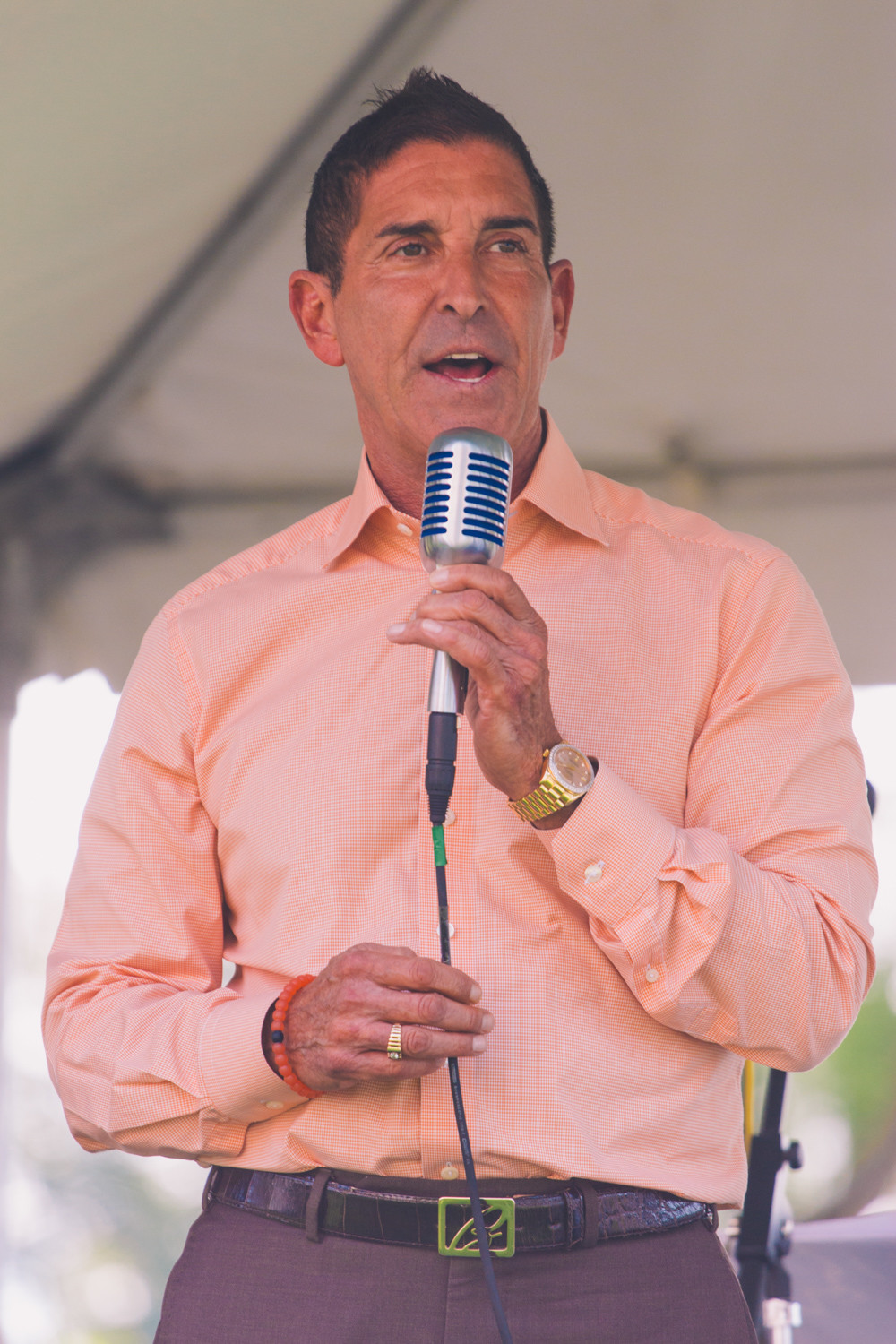 New York State Senator Jeffrey Klein offers some brief remarks to the residents of the Hebrew Home and their families.