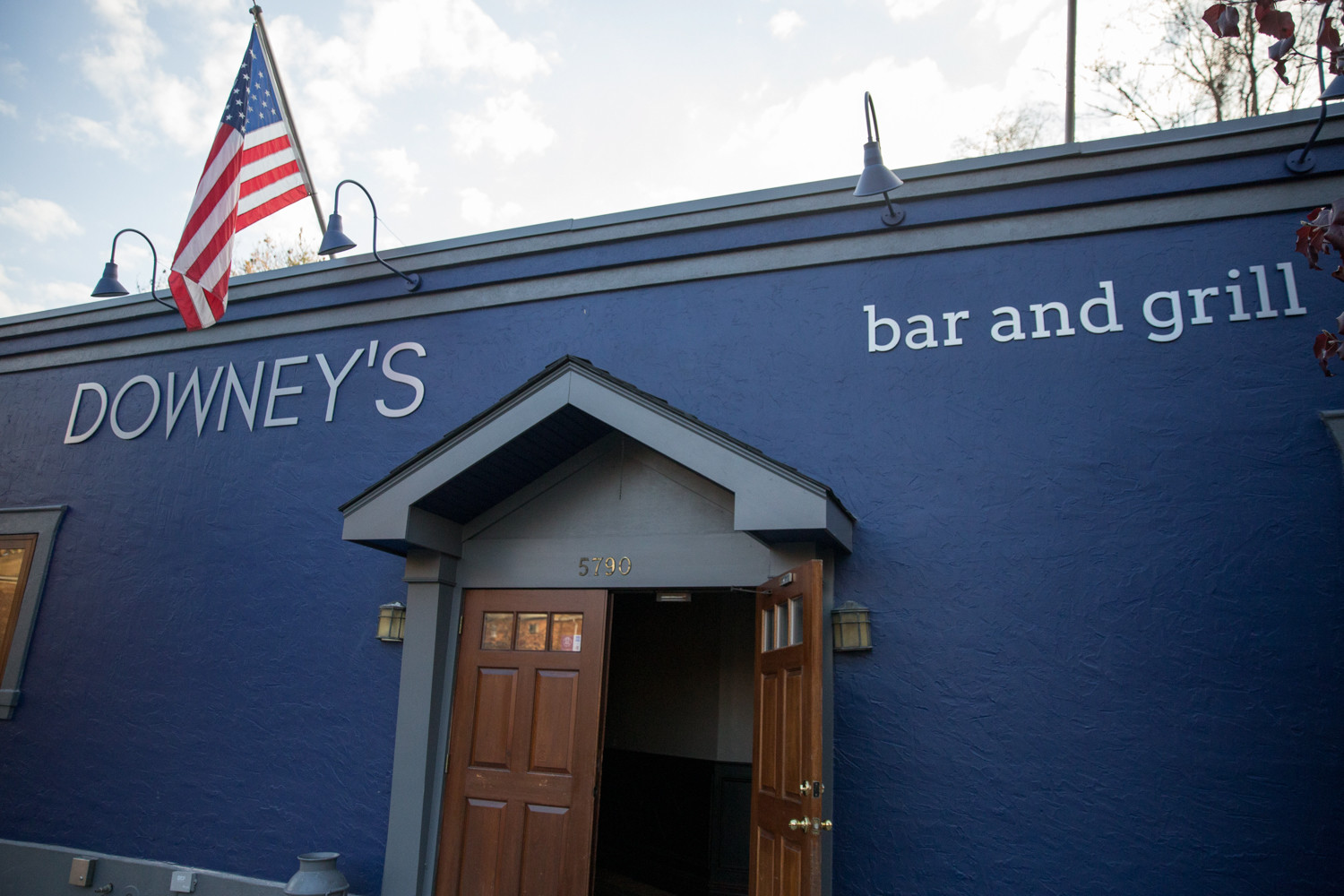 The exterior has been repainted and new signage installed for the opening of Downey's Bar and Grill.