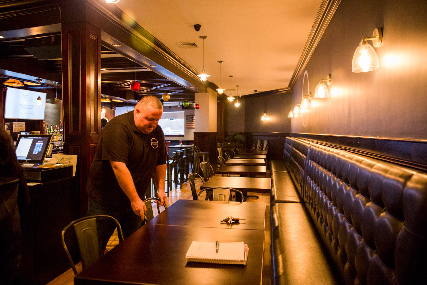 Owners Brian Downey and Bobby Cook renovated the space that was once Kelly Ryan's before opening Downey's Bar and Grill in late October. The location's new party room is already heavily booked for holiday parties.