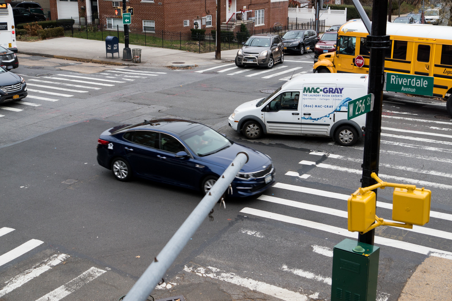 The city's transportation department nixed installing a left-turn signal at West 256th Street and Riverdale Avenue.