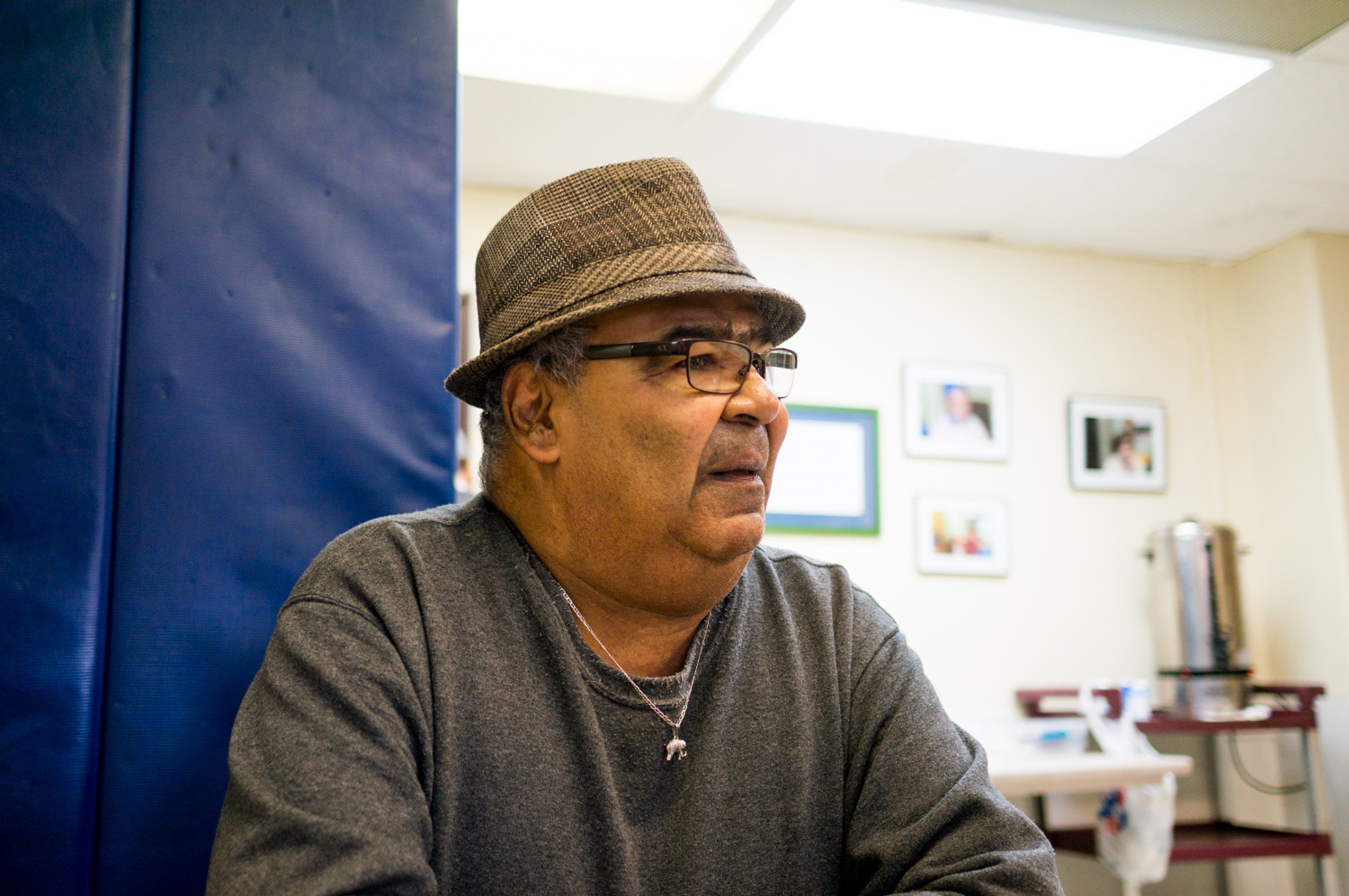 Luis Rivera, a resident of New York City Housing Authority's Marble Hill housing development, has been happy living there, with no complaints about the buildings or management.