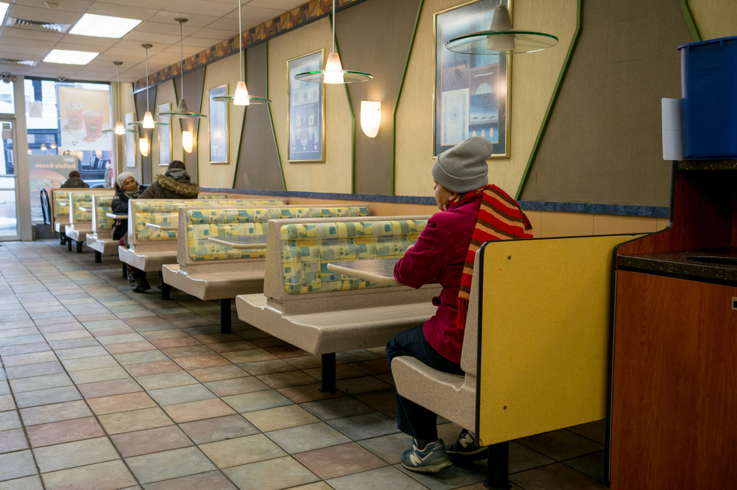 Customers sit inside the McDonald's at 5201 Broadway in Marble Hill, which has been a fixture of the neighborhood for more than 15 years. It closed Monday.