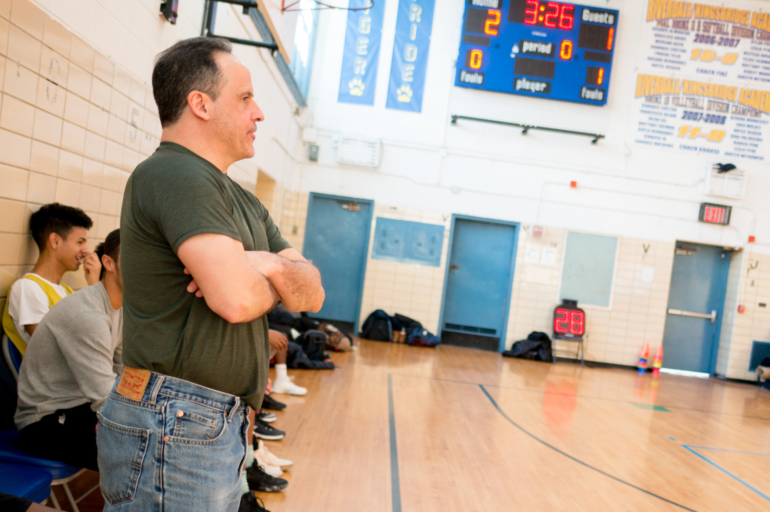The gymnasium at Riverdale/Kingsbridge Academy has become a second home for John Reingold, who coaches three varsity sports at the school.