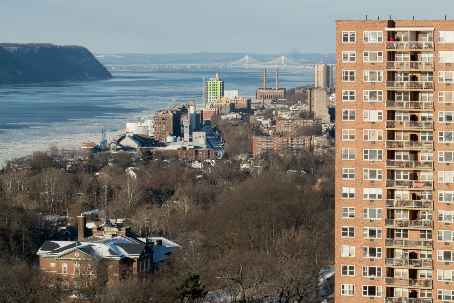 'The smell is bad,' says Jeremy Jutkowitz, a board member at Skyview-on-the-Hudson, of the occasional odor coming from the nearby Yonkers Joint Wastewater Treatment Plant. The odor, which has not drifted into his apartment, is apparent when he is out on his terrace.