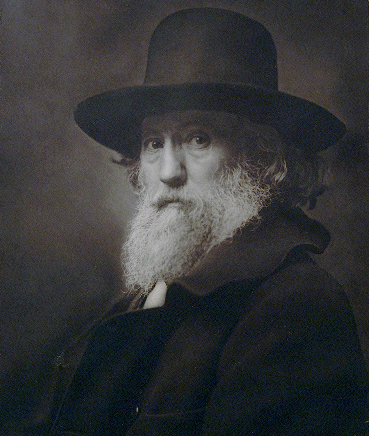 Rudolf Eickemeyer Jr., one of the Hudson River Museum's founders, photographed his father, an inventor who manufactured hat making machinery and other engines, in 'Portrait of My Father.' The photograph is part of a series of portraits from the 1800s to early 2000 at the Hudson River Museum.