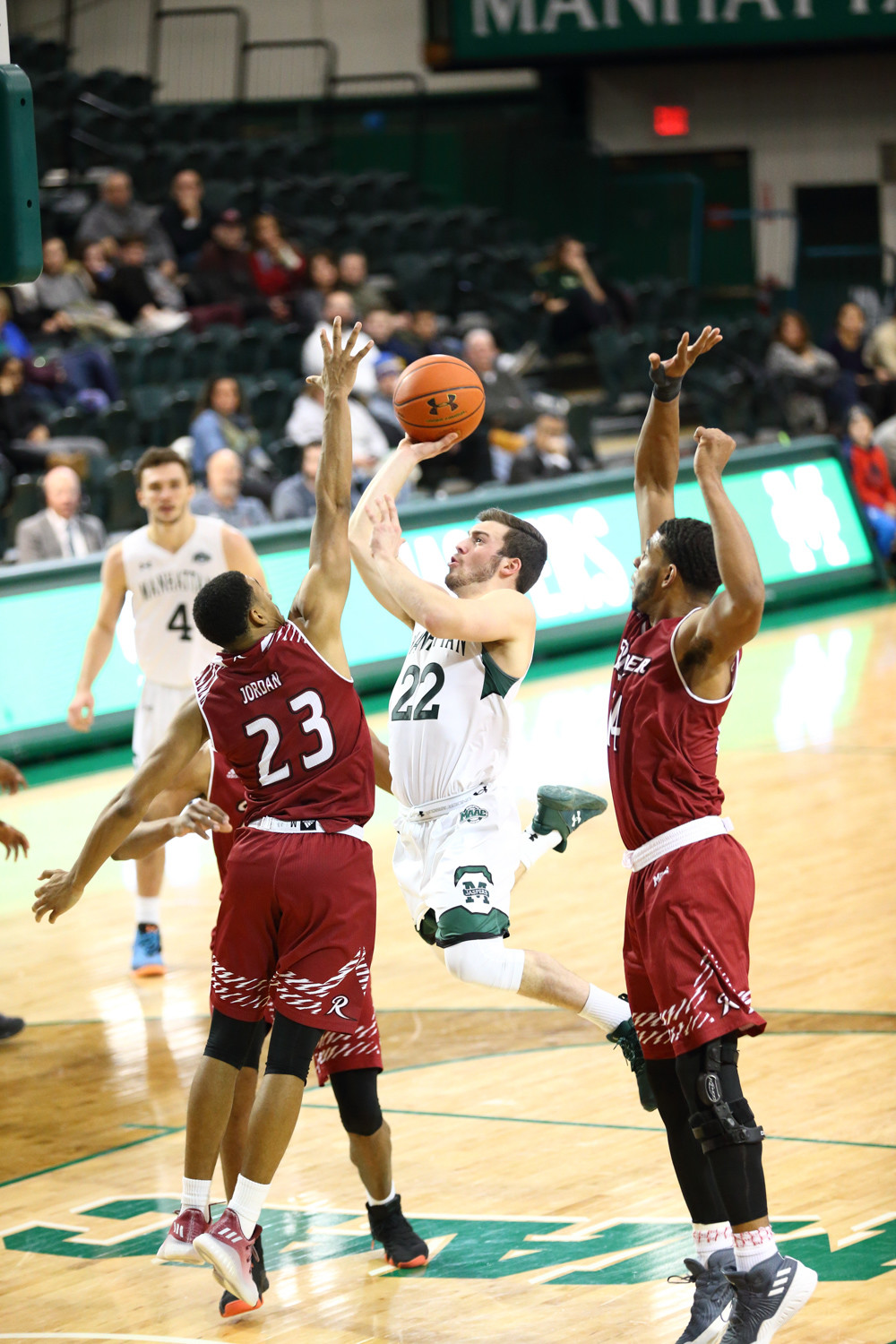 Manhattan junior guard Thomas Capuano led the Jaspers with 17 points but it wasn't enough to knock off Rider last Sunday night.