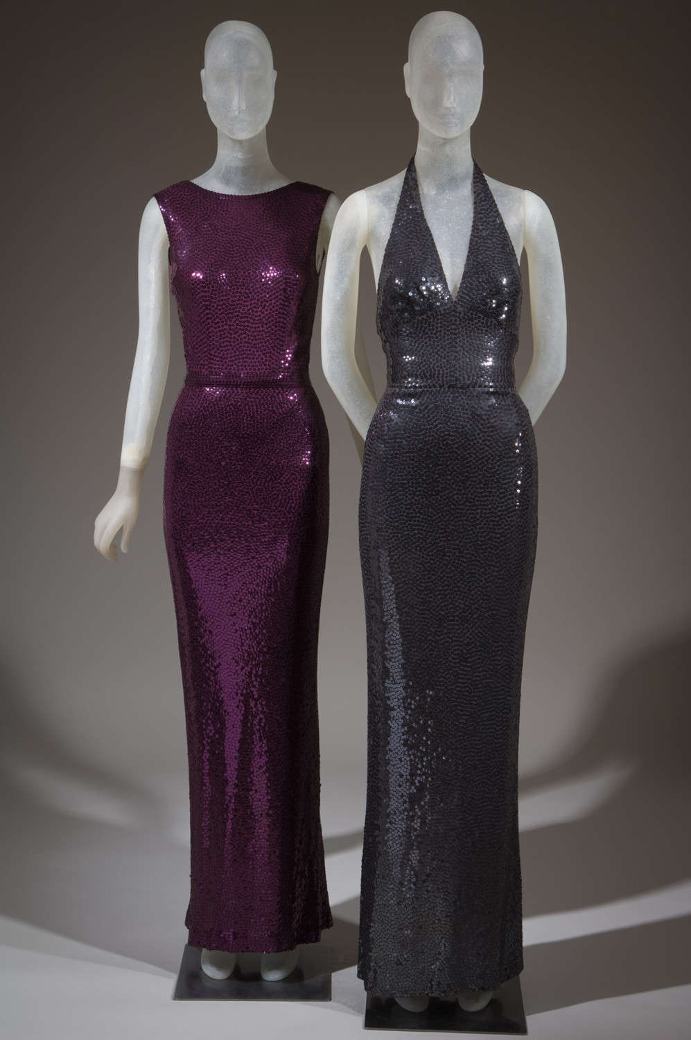 American fashion designer Norman Norell might have been best known for his 'mermaid' gowns, which included a strong use of sequins. These are two out of the roughly 100 pieces by the designer on display between Feb. 9 and April 14, part of an exhibition on Norell.