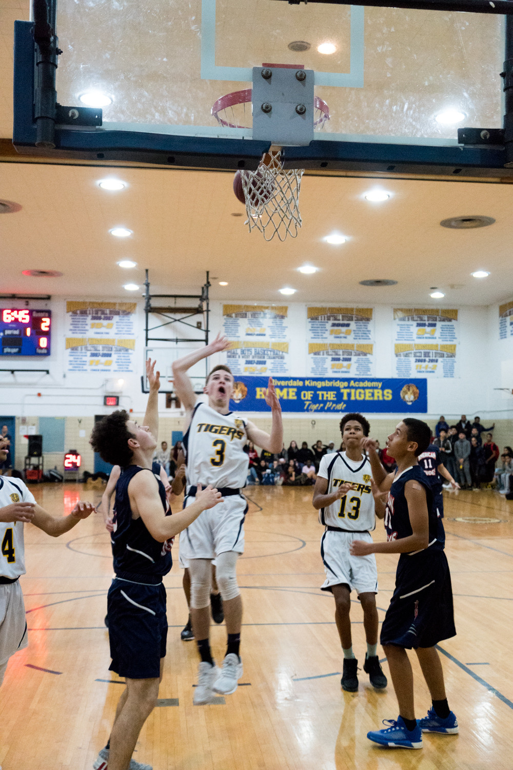 RKA senior guard Will Feldman (3) poured in 20 points for the Tigers in their win over Gregorio Luperon last weekend.