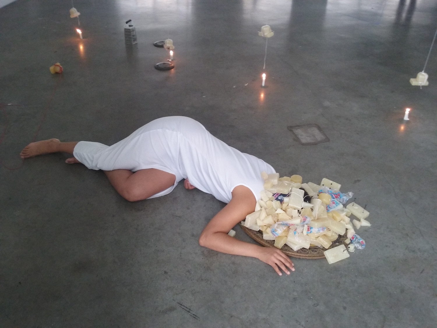 Francheska Alcántara's 'Still Do I Keep' is a performance piece she brought to the Bronx Museum of the Arts during its 'Bronx Latin American Biennial' in 2016. Alcántara is one of many female artists featured in the Longwood Art Gallery's latest exhibition, 'Her Art Will Be Cannibal.'