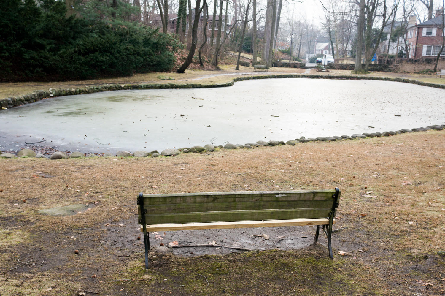 A controversial plan to develop 1.3 acres of land overlooking Indian Pond in Fieldston looks like it might be dead, as the property is up for sale.