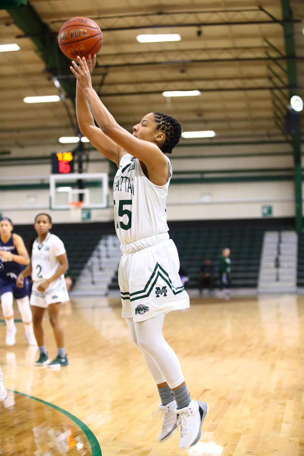 Jaspers senior guard Amani Tatum, the steals leader in the Metro Atlantic Athletic Conference, picked up eight more in Manhattan's 10-point win over Monmouth.
