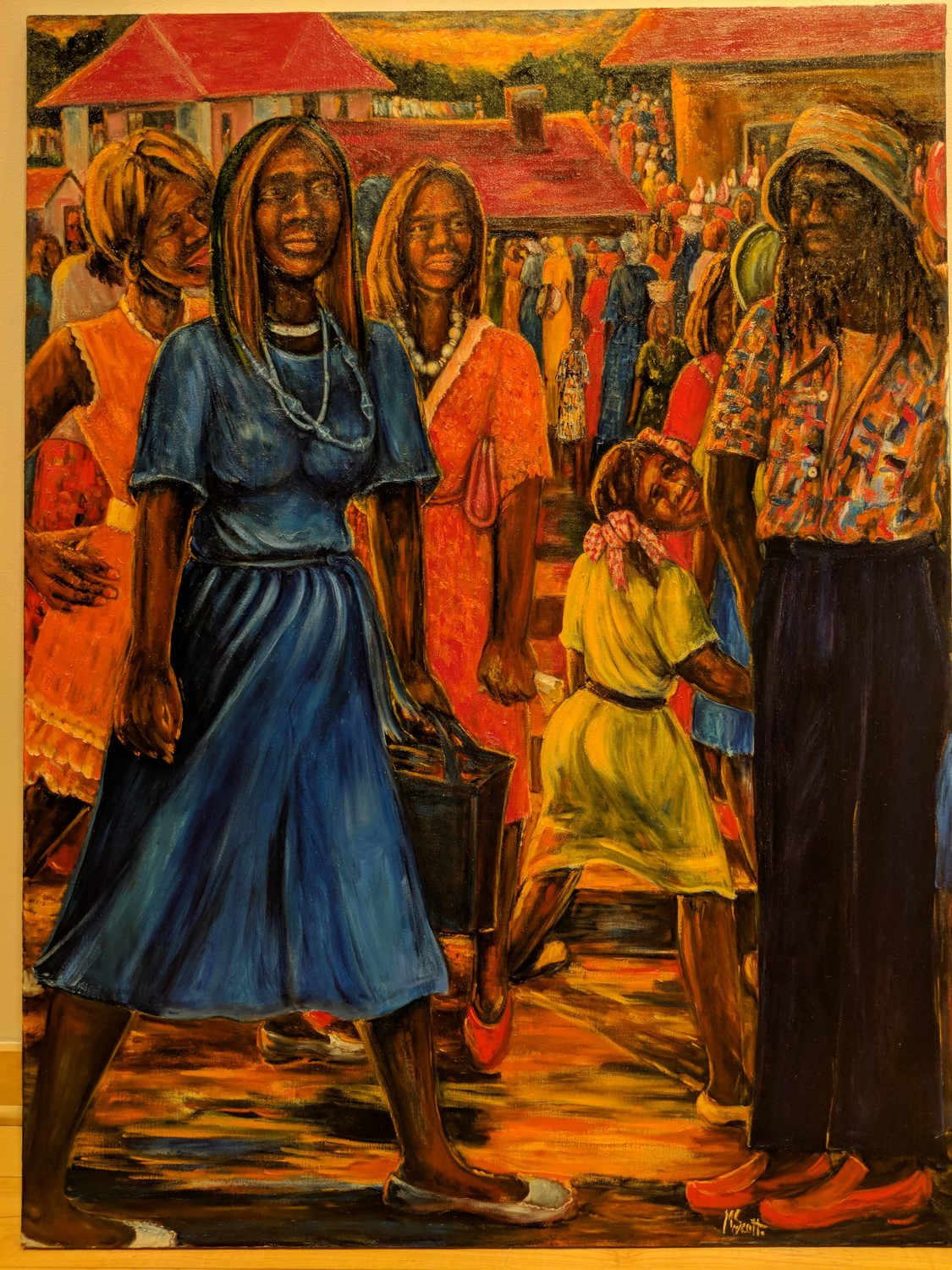 Madge Scott's 'Touching the Skies' is one of the pieces featured in 'The Way Back,' an exhibit celebrating Black History Month at the Yonkers Public Library's Riverfront Art Gallery. The exhibit runs through Feb. 21.