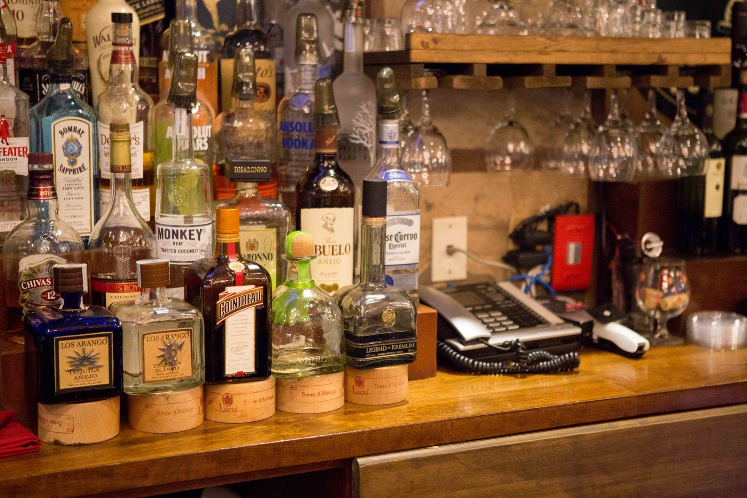 K Grill House in North Riverdale offers an ample alcohol selection to accompany generous cuts of meat. Dmitriy Berezovskiy, the establishment's owner, filed a lawsuit against his landlord, Moses Marx, and the local rabbinical council alleging they tried to drive him out of business — because, among other things, his wife isn't Jewish.