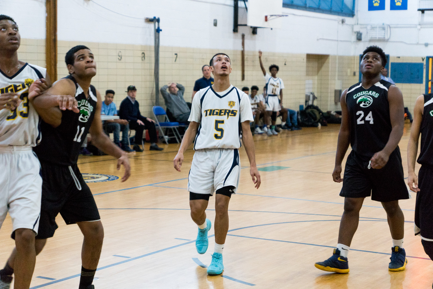 Riverdale/Kingsbridge Academy's Jalen Cuello made his triumphant return to the boys basketball teaam after missing most of the season over a heart scare.