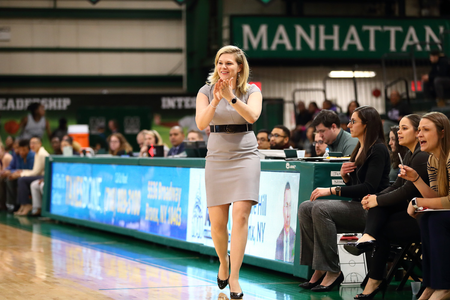 Manhattan head coach Heather Vulin has reason for optimism next season after a turnaround year for the Jaspers.