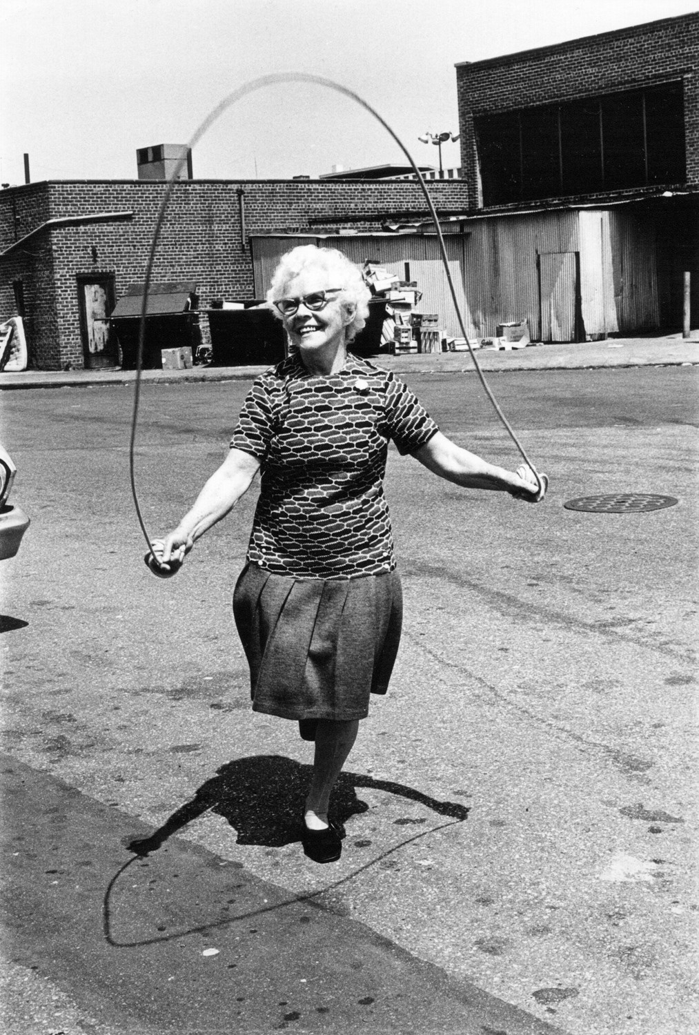 Many of Arlene Gottfried's images are full of humor, like 'Isabel Croft Jumping Rope' from 1972.