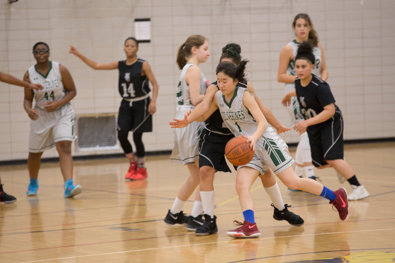 Bronx Science senior guard Michelle Kim watched her career come to an end in the Wolverines' playoff loss to Brooklyn Community in the PSAL quarterfinals.