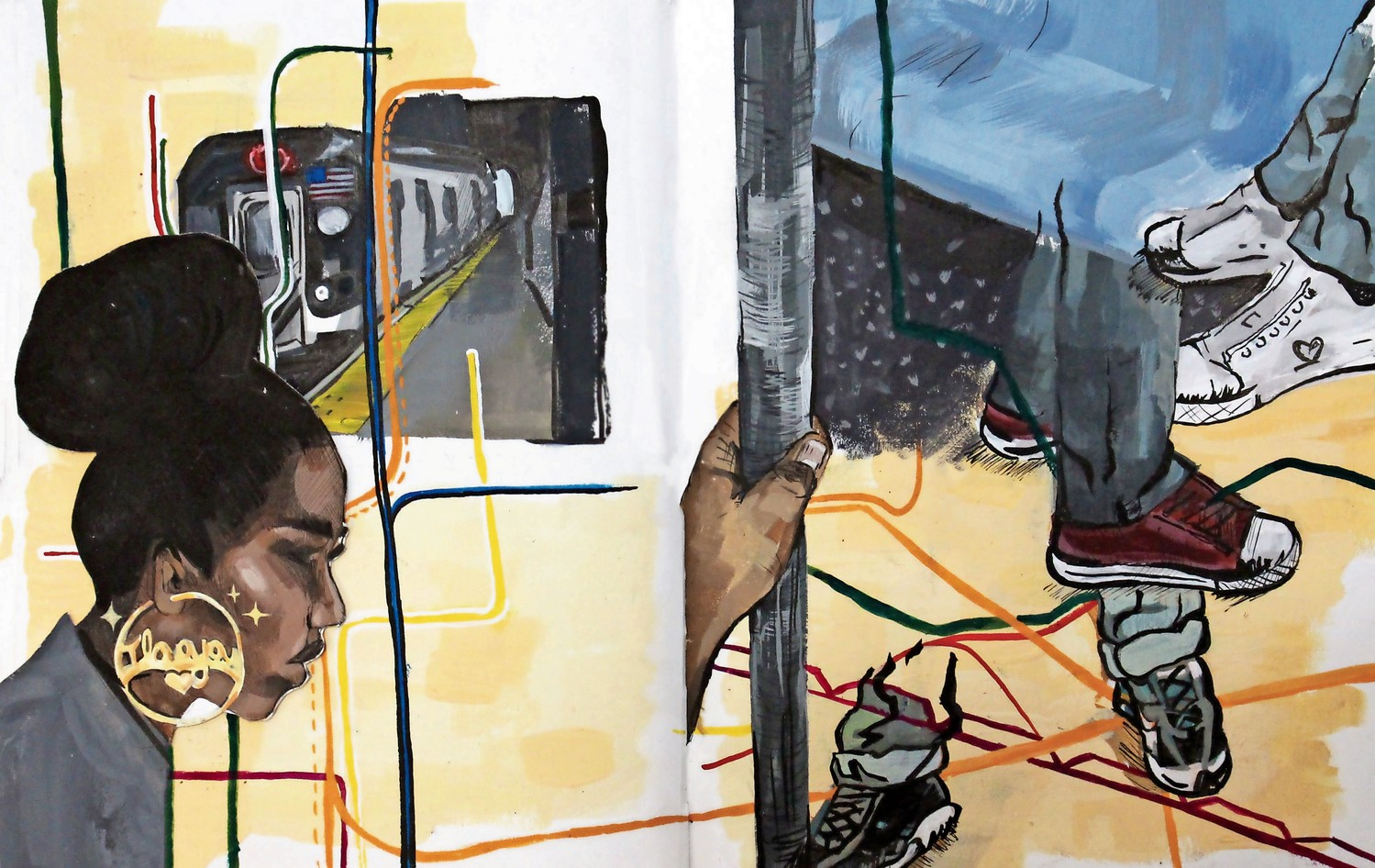 Much of Maya Dixon's art is inspired by life in the Bronx, like public transportation. A senior at Ethical Culture Fieldston School, Dixon took home the gold medal at the 95th Scholastic Art and Writing Awards, which includes at $10,000 scholarship, for her portfolio 'Essence of Soul.'