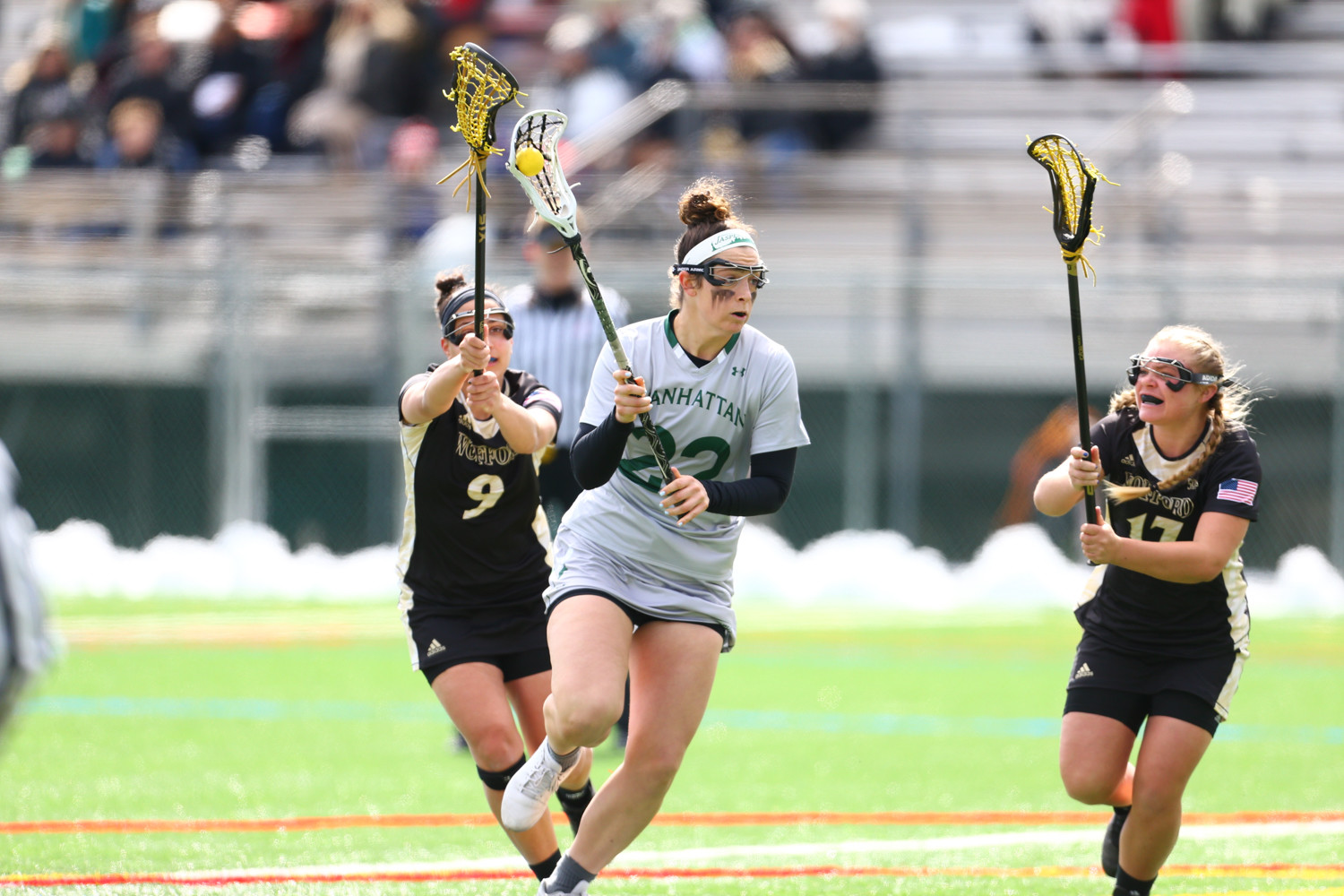 Manhattan head coach Katie McConnell will be looking for big things from senior attacker Sarah Lang to turn around the Jaspers' fortunes this season.