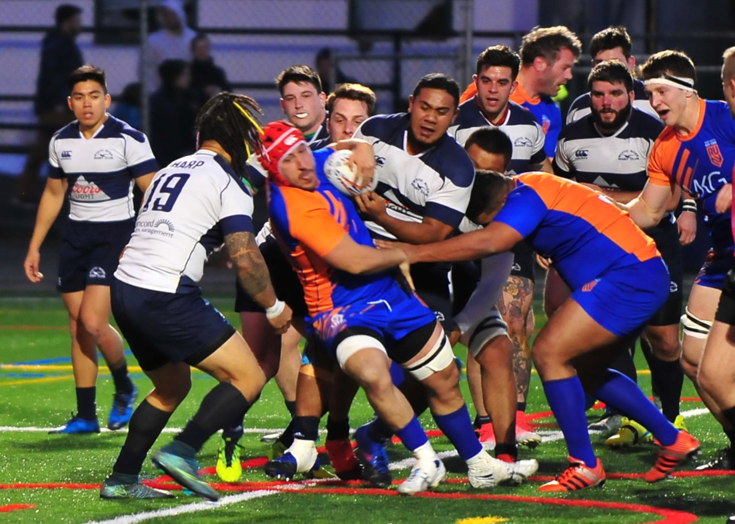 Rugby United New York had no trouble scoring against Boston as the fledgling pro team posted a 50-0 victory at Gaelic Park last Saturday night.