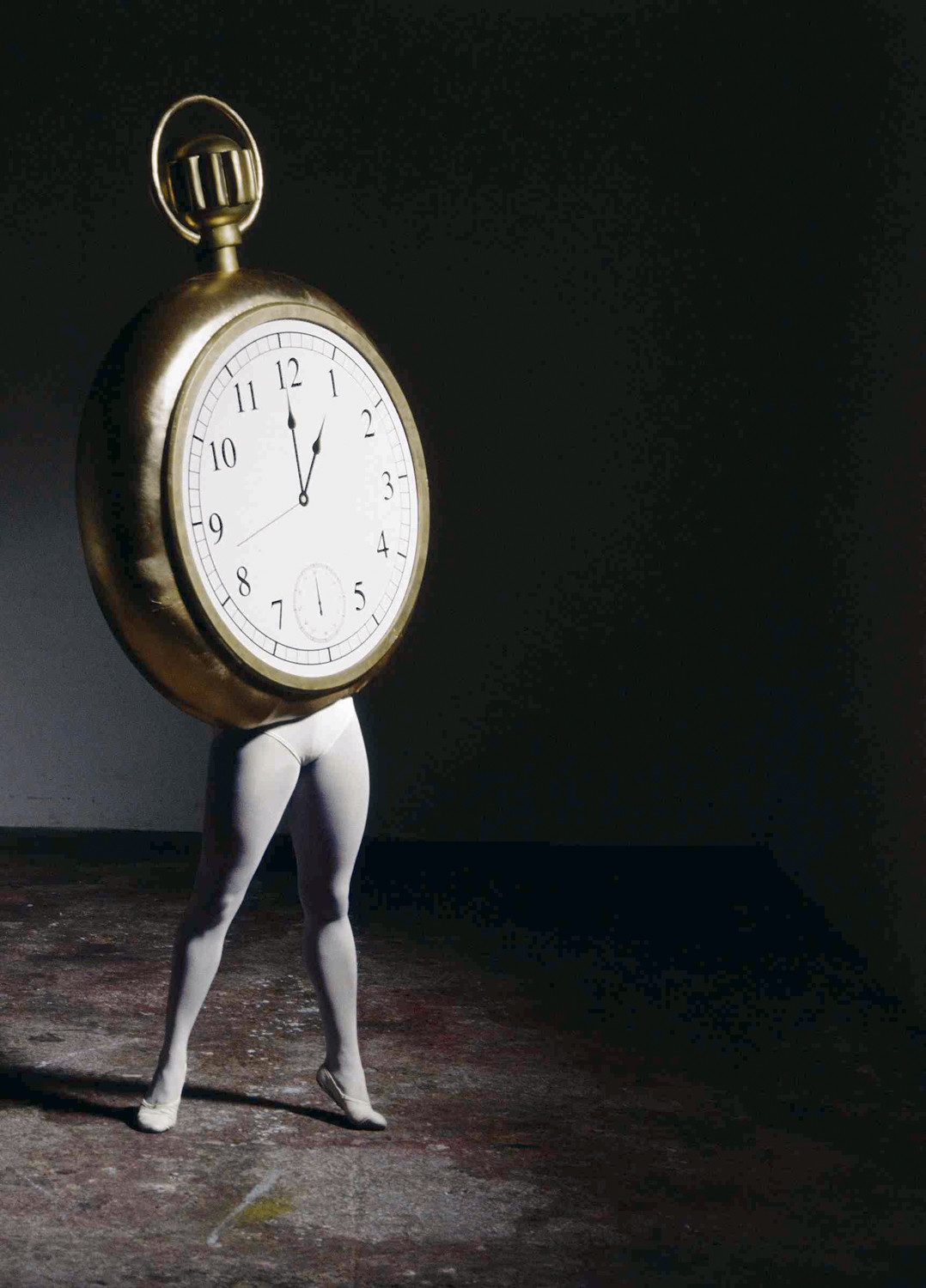 Laurie Simmons' 'Walking Pocket Watch II/The Music of Regret' shows the direct relationship between humans and time, an overall theme explored in 'Tick-Tock: Time in Contemporary Art' at the Lehman College Art Gallery.