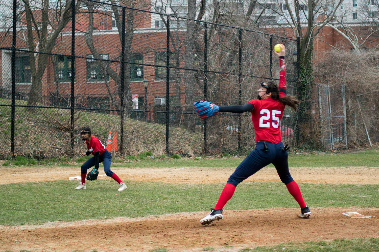 JFK senior pitcher Stacy Hernandez was her usual dominant self as she struck out 10 Explorations Academy hitters in just four innings of work on March 28.