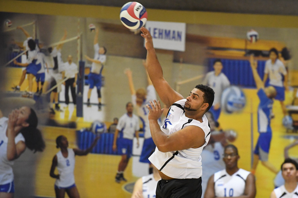 George Montilla, a 28-year old Army veteran, is the undisputed leader of the Lehman Lightning men's volleyball team.