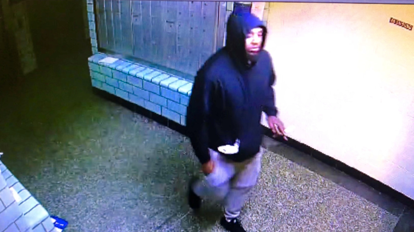 Police are looking for this man they describe as a black male, approximately 25 years old, who stands at 6 feet, and weighs 200 pounds. He was last seen wearing a dark blue hoodie and blue jeans.