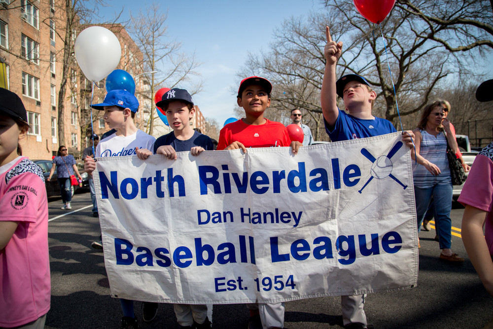 The North Riverdale Baseball League kicked off its season with a parade through the neighborhood on Saturday.